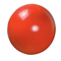 Мяч пляжный надувной; красный; D=40-50 см, не накачан, ПВХ, Красный, -, 343261 08