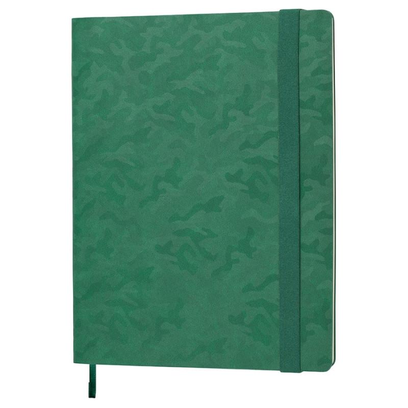 Бизнес-блокнот Tabby Biggy, гибкая обложка, в клетку, зеленый, Зеленый, -, 21228 15