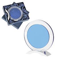 """Стела наградная """"Round"""" в подарочной упаковке, прозрачный, синий, , 13124"""
