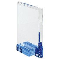 """Стела наградная  """"Прямоугольник"""" в подарочной упаковке, прозрачный, синий, , 13125"""