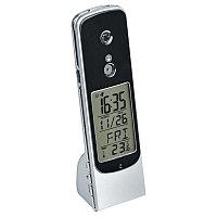Веб-камера USB настольная с часами, будильником и термометром, серебристый, черный, , 15505, фото 1