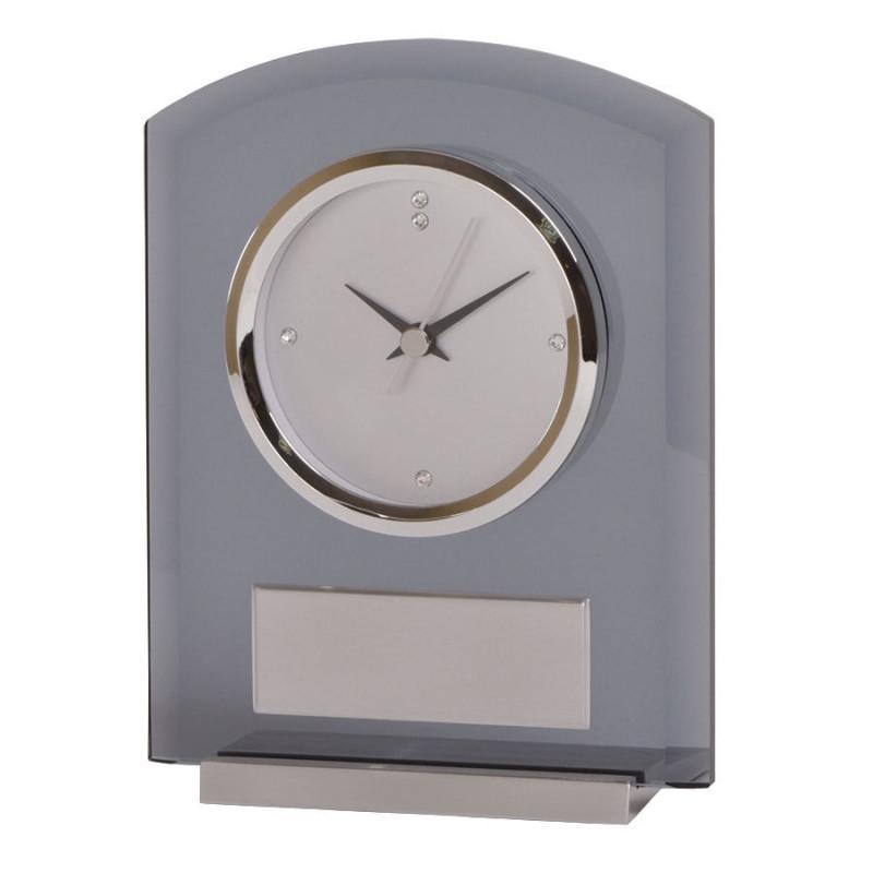 """Часы настольные """"Award"""" с шильдом, серый, , 13119"""