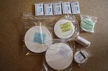 Фильтры обеззоленные, желтая лента, D=12,5 см  (обезжиренные), упаковка 100 шт