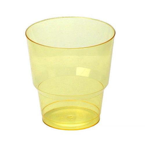 Стакан д/хол., 0.2л, жёлт., кристалл, ПС, 1000 шт