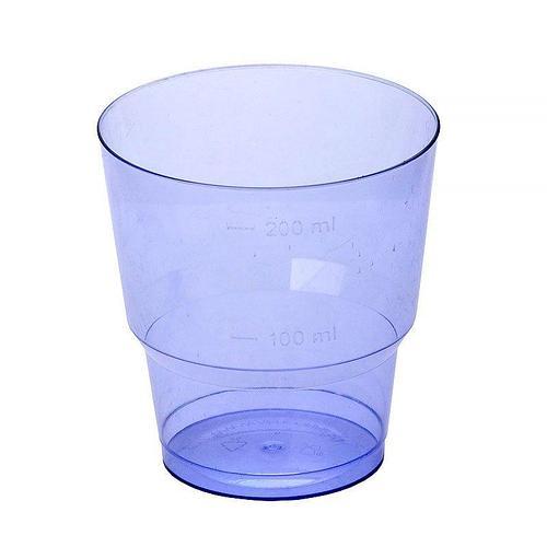 Стакан для холодных напитков, 0.2л, син., кристалл, 1000 шт
