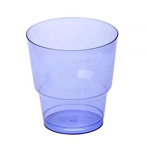 Стакан для холодных напитков, 0.2л, син., кристалл, 1000 шт, фото 2
