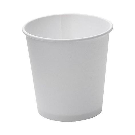 Стакан для холодного и горячего, 0.1/0.109л, белый, картон, 1000 шт, фото 2