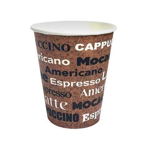 Стакан для холодного и горячего, 0.185/0.205мл, coffee, картон, 2000 шт, фото 2