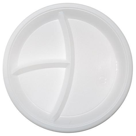 Тарелка d 210мм, 3-секции, белая, 1200 шт, фото 2