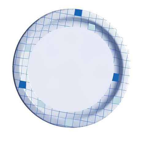 """Тарелка d 230мм, """"Клетка"""", картон, 1000 шт, фото 2"""