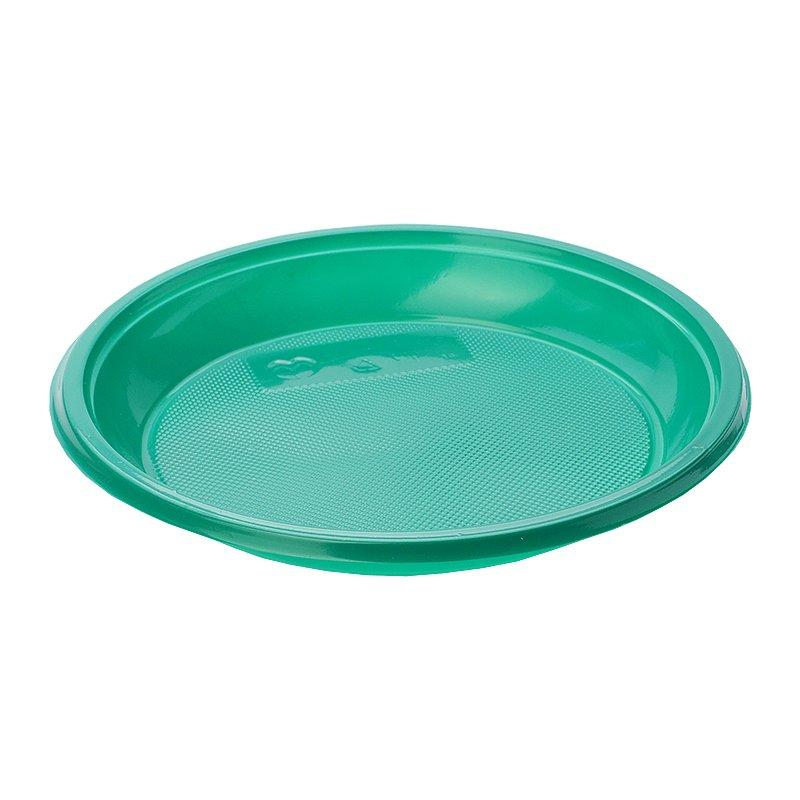 Тарелка дес., d 167мм, зелен., ПС, 1600 шт