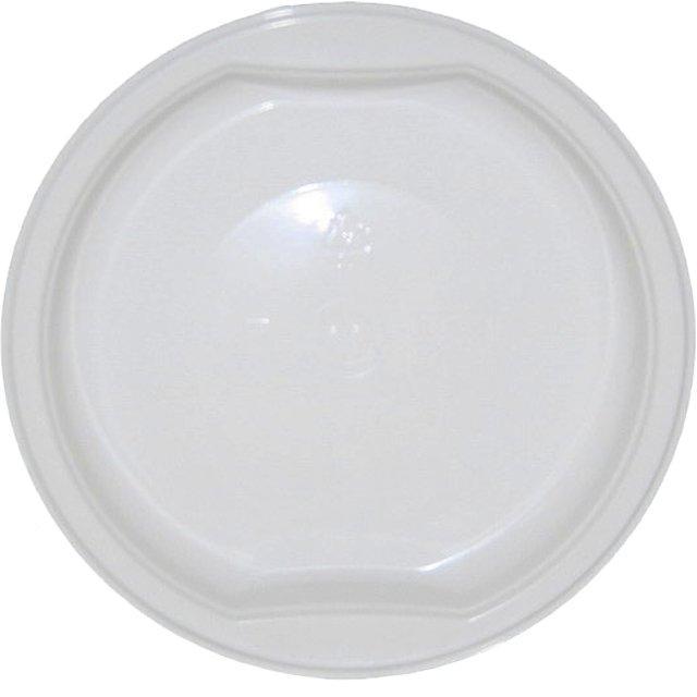 Тарелка пластиковая 0.2л, d 153мм, бел., ПП, 1000 шт