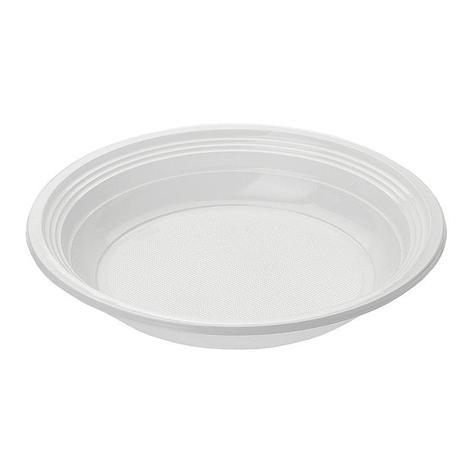 Тарелка, d 205мм, белая, Flo, 100 шт, фото 2