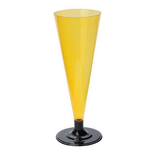 Фужер для шампанского, 0.18л, с черной ножкой, оранжевый, 396 шт