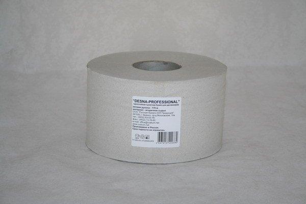 Бумага туалетная d 16см, 170м, 1 сл., бел., Бумага