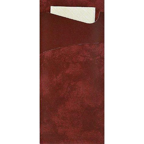 Конверт 19х8,5см бордо+ салф.33 см. 2-сл (ваниль), бум, 100 шт, фото 2
