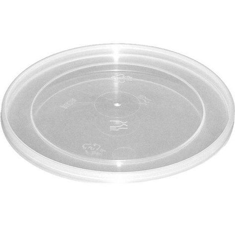 Крышка д/ведра 1л, кругл., d 120мм, прозрачн., ПП, 315 шт, фото 2