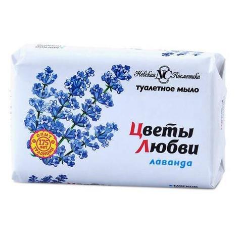 "Мыло туалетное ""Цветы любви"" Лаванда 90 г., 6 шт, фото 2"