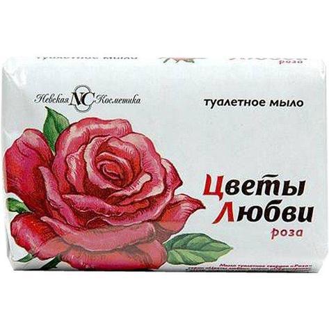 """Мыло туалетное """"Цветы любви"""" Роза 90 г., 6 шт, фото 2"""