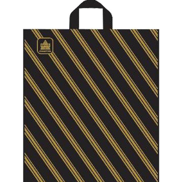 "Пакет (мешок) петля ПНД 40х44см, 43мкм, ""Золотая полоса"", 50 шт"