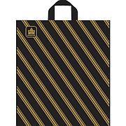 """Пакет (мешок) петля ПНД 400х440мм, 43мкм, """"Золотая полоса"""", 50 шт"""