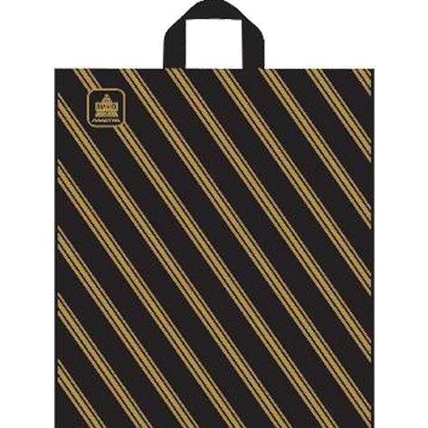"""Пакет (мешок) петля ПНД 40х44см, 43мкм, """"Золотая полоса"""", 50 шт, фото 2"""