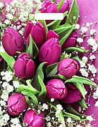 "Пакет (мешок) проруб. ПВД 40х31см, 60мкм, ""Розовые тюльпаны NEW"", 50 шт"