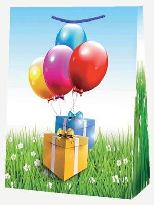 "Пакет ламин. 30х40х12см ""Подарки с шарами"", бум. , 10 шт, фото 2"