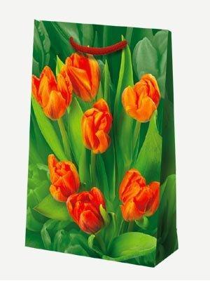 "Пакет ламин. 15х23х6см ""Тюльпаны""  , бум., 10 шт"