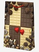 "Пакет ламин. 21х32х8см ""Шоколад"", бум., 10 шт"