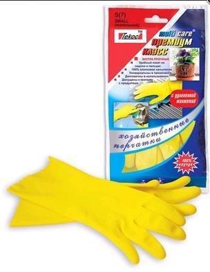 Перчатки  Multi Care рез. жёлт. (L) (каучук на хлопк основе), Премиум-класс