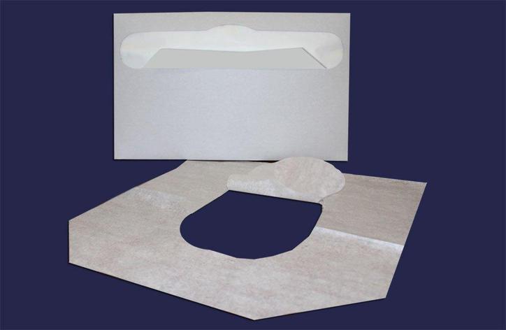 Покрытия д/унитаза 235 шт/упак бел, бумажн., 235 шт, фото 2