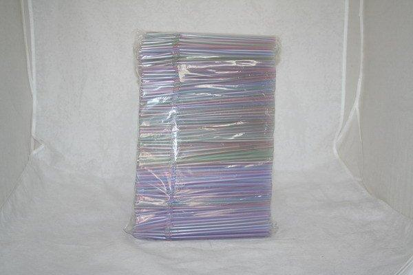 Трубочки д/коктейля  гофр. d=5мм L=210мм, полосат. ПП, 1000 шт, фото 2
