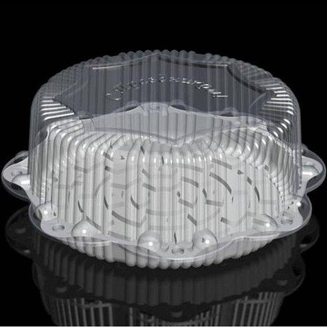 Крышка кругл. торт. 14,2л, внешн. d-454, h-164, внут. d-335, h-150  прозрачная, ОПС, 50 шт, фото 2