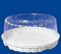 Крышка кругл. торт. 2,5 кг, внешн. d-334мм, h-148мм, внут.d-280мм, h-135мм, прозрачная, (74609) ОПС, 85 шт, фото 2