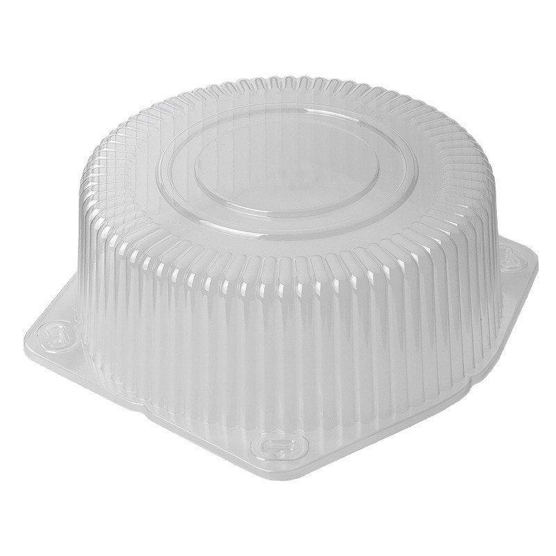 Крышка кругл. торт. 3,0л, d-195мм, h-95мм, прозрачная, (135109) ОПС, 250 шт