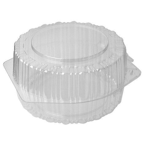 Упаковка кругл. торт. 3,5=(1,75+1,75)л, d-195, h-105, прозрачная, (68703) ОПС, 200 шт, фото 2