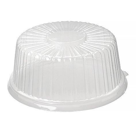 Крышка кругл. торт. 4,8л., внешн. d-260мм, h-112мм, внутр.d-210мм, h-99мм, прозрачная, ОПС (130758), 100 шт, фото 2