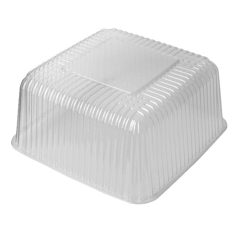 Упаковка д/торта, 4л, квадратн., внеш. 243х243х129мм, внутр. 191х191х114, прозрачн., эконом, ОПС, 200 шт