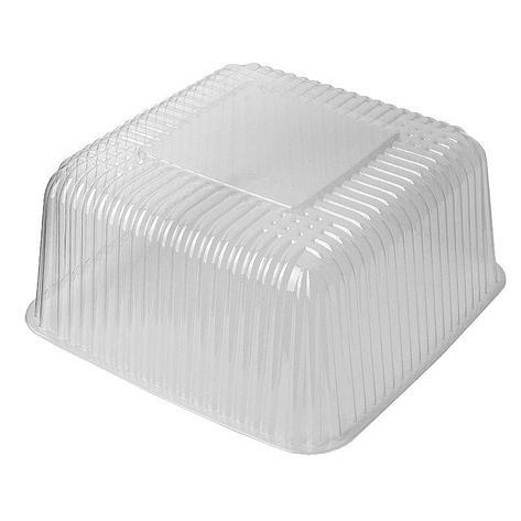 Упаковка д/торта, 4л, квадратн., внеш. 243х243х129мм, внутр. 191х191х114, прозрачн., эконом, ОПС, 200 шт, фото 2
