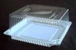 Упаковка квадр. торт. 4,5=(1,2х3,3)л, внешн. 238х238х100 мм, внутр. 190х190х90 мм, прозрачная, ОПС, 110 шт