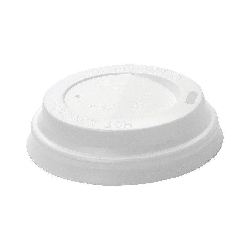 Крышка д/стаканов, д/хол./гор., d 90мм, бел., К90, ПС, 100 шт