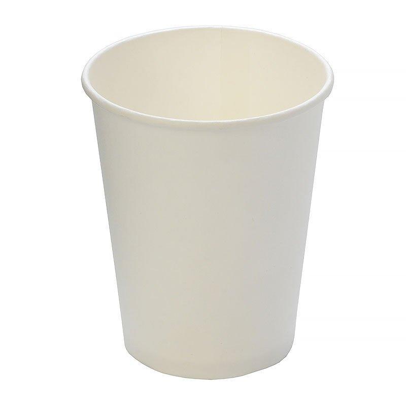 Стакан для холодного и горячего, 0.25/0.273л, белый, картон, 1000 шт
