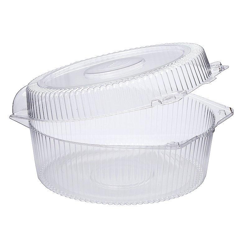 Упаковка кругл. торт. 1,2 кг, внешн. 248х246х114мм, внутр. d-222мм, h-107мм, прозрачная, (51918) ОПС, 120 шт