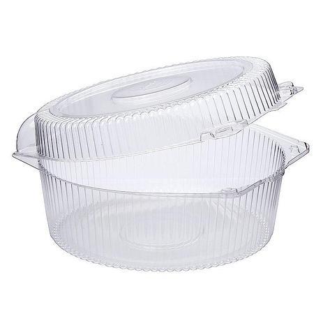 Упаковка кругл. торт. 1,2 кг, внешн. 248х246х114мм, внутр. d-222мм, h-107мм, прозрачная, (51918) ОПС, 120 шт, фото 2