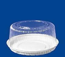 Крышка кругл. торт. 6,9л., внешн. d-305мм, h-143мм,внутр. d-260мм, h-130мм, прозрачная, (75138) ОПС, 110 шт
