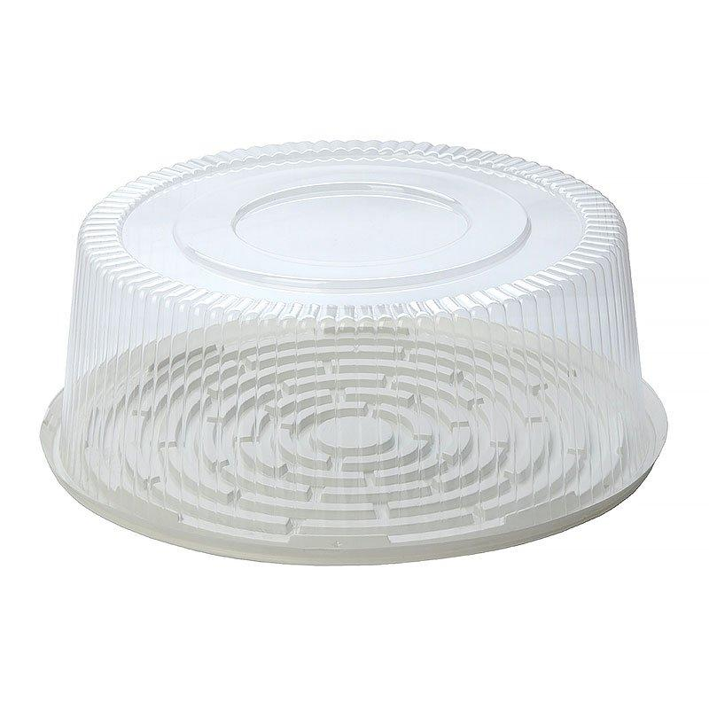 Упаковка кругл. торт, 6,7 л, внешн. d-324мм, h-121мм, внутр. d-270мм, h-110мм, прозрачная, ОПС, 80 шт
