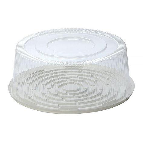 Упаковка кругл. торт, 6,7 л, внешн. d-324мм, h-121мм, внутр. d-270мм, h-110мм, прозрачная, ОПС, 80 шт, фото 2