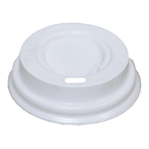 Крышка д/стаканов, д/хол./гор., d 62мм, бел., ПС, 100 шт