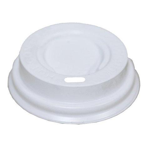 Крышка д/стаканов, д/хол./гор., d 62мм, бел., ПС, 100 шт, фото 2